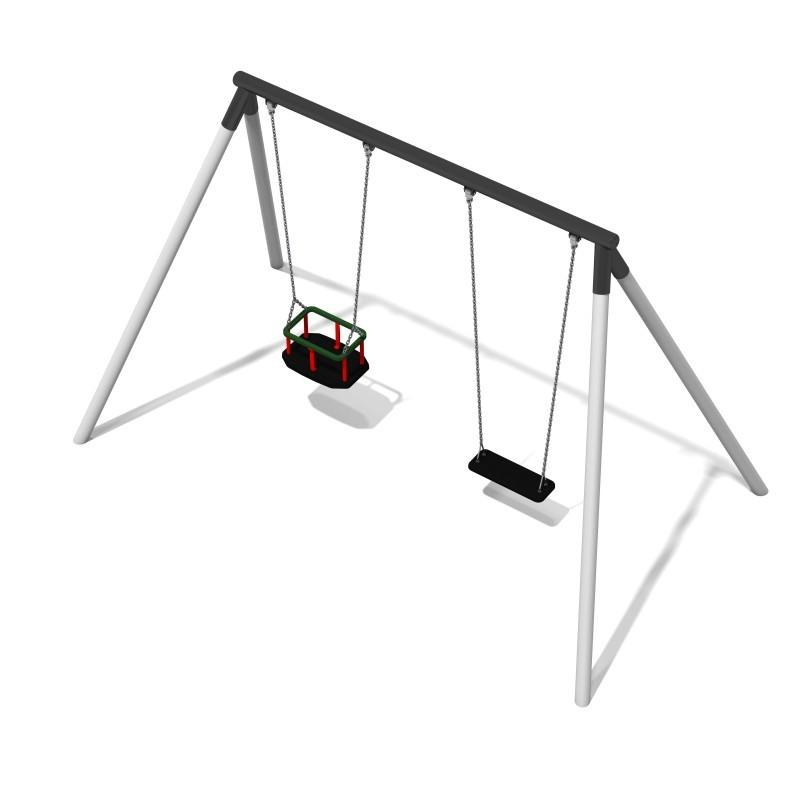 Urządzenia zabawowe Huśtawka metalowa Lavender 3