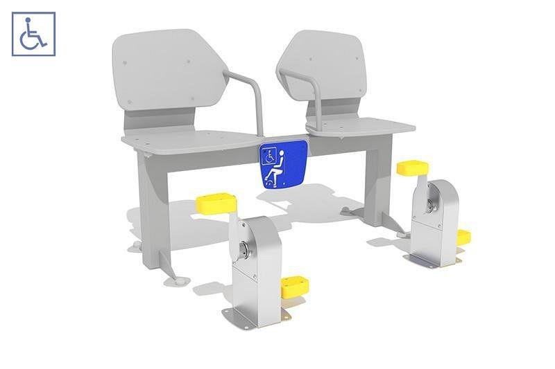 Urządzenia zabawowe Zestaw podwójny ławka z rowerkiem