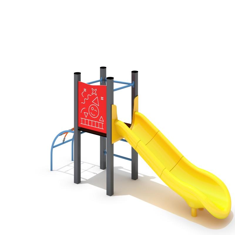Urządzenia na plac zabaw Zestaw Avelo 1-2 - zjeżdżalnia plastikowa