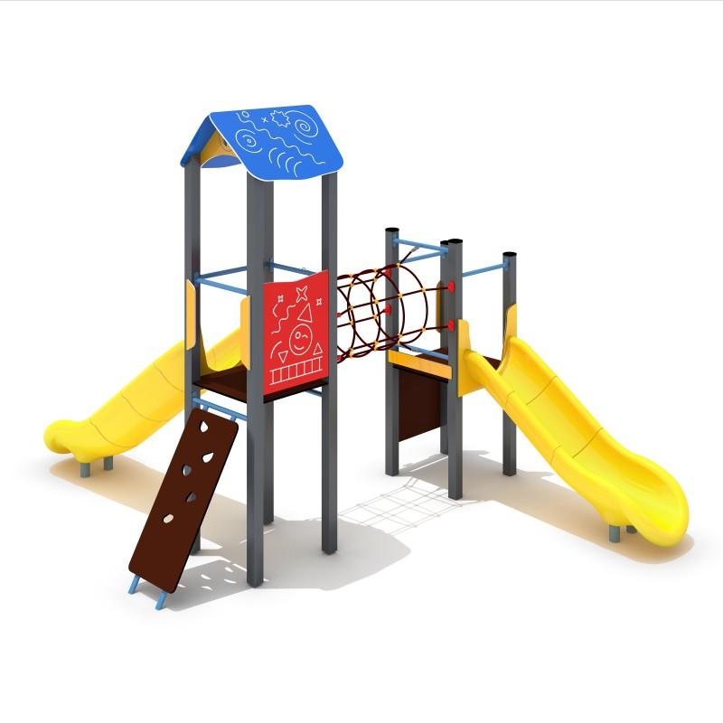 Urządzenia na plac zabaw Zestaw Avelo 2-3 - zjeżdżalnia plastikowa