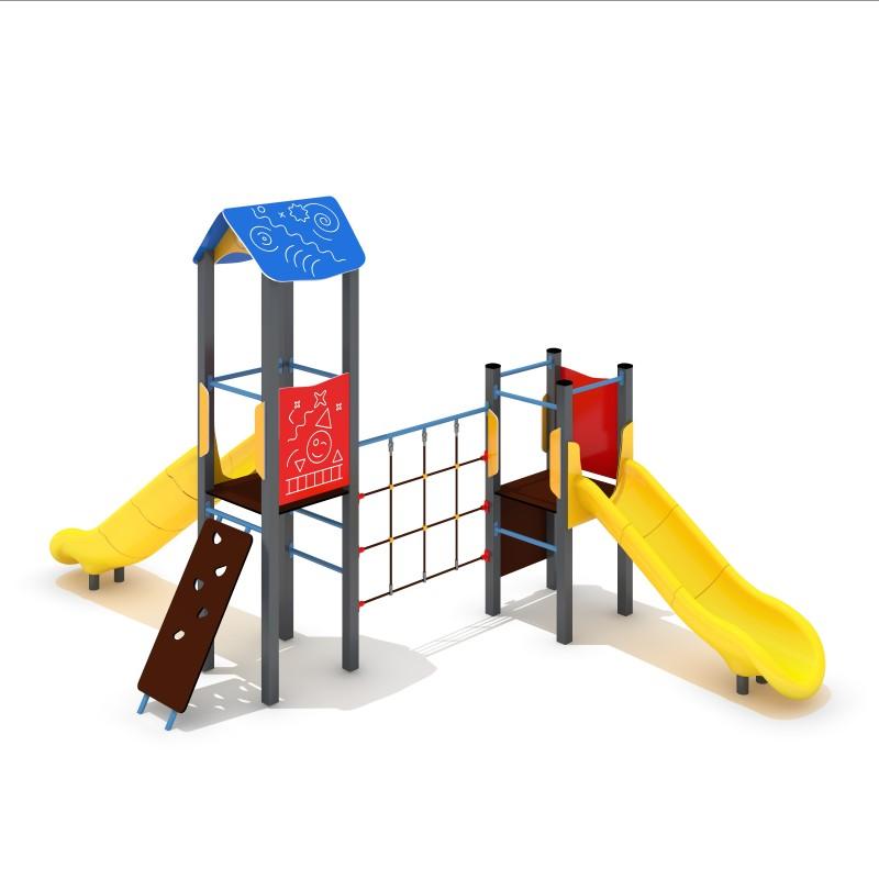 Urządzenia na plac zabaw Zestaw Avelo 2-4 - zjeżdżalnia plastikowa