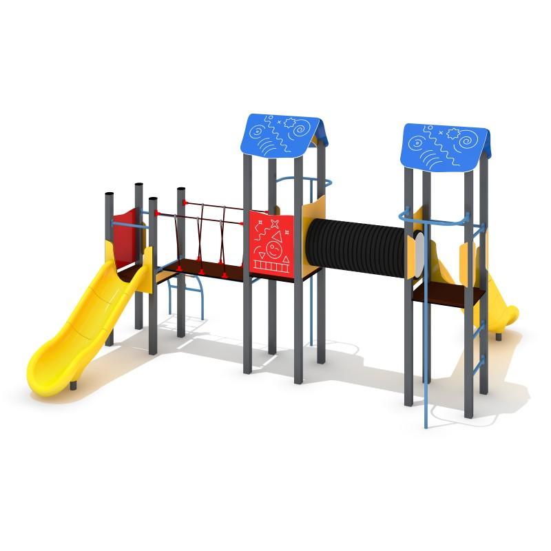 Urządzenia na plac zabaw Zestaw Avelo 3-3 - zjeżdżalnia plastikowa