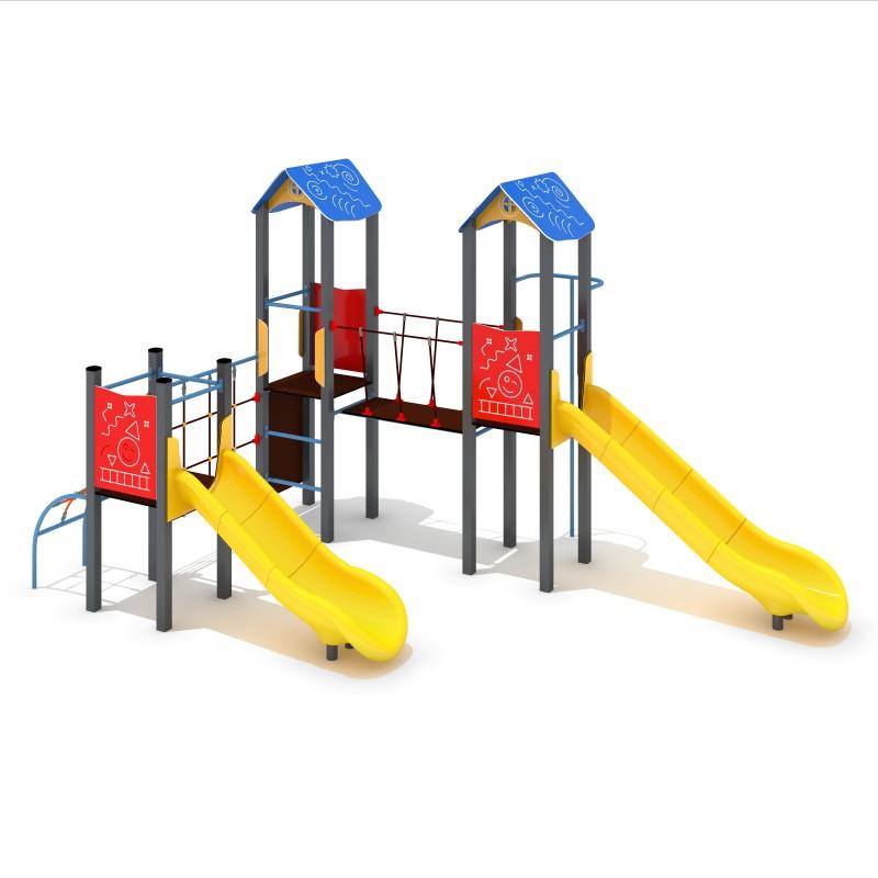 Urządzenia na plac zabaw Zestaw Avelo 3-4 - zjeżdżalnia plastikowa