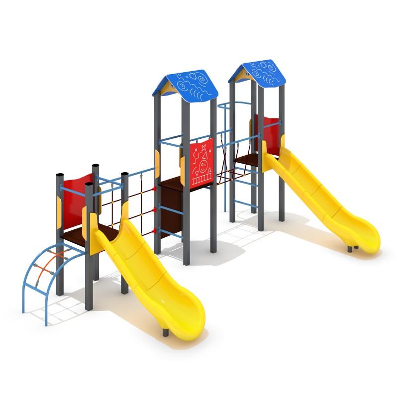 Urządzenia na plac zabaw Zestaw Avelo 3-5 - zjeżdżalnia plastikowa