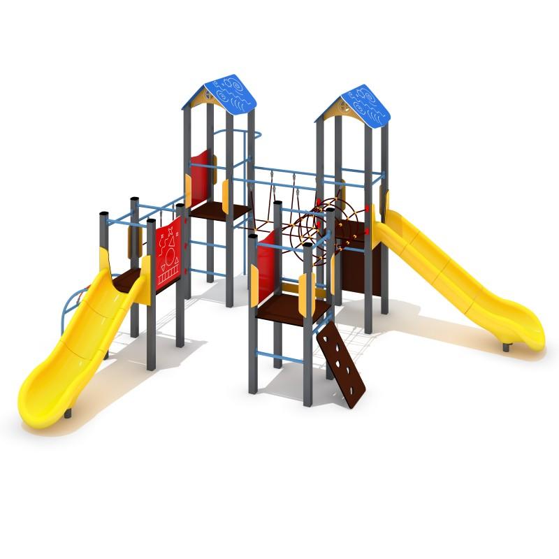 Urządzenia na plac zabaw Zestaw Avelo 4-2 - zjeżdżalnia plastikowa