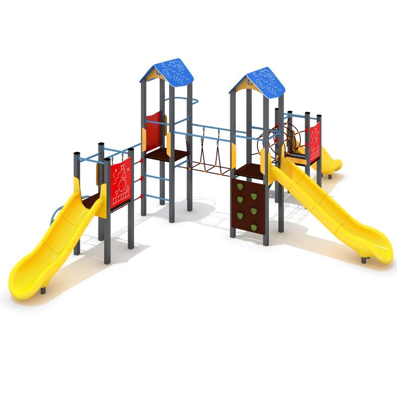 Urządzenia na plac zabaw Zestaw Avelo 4-3 - zjeżdżalnia plastikowa