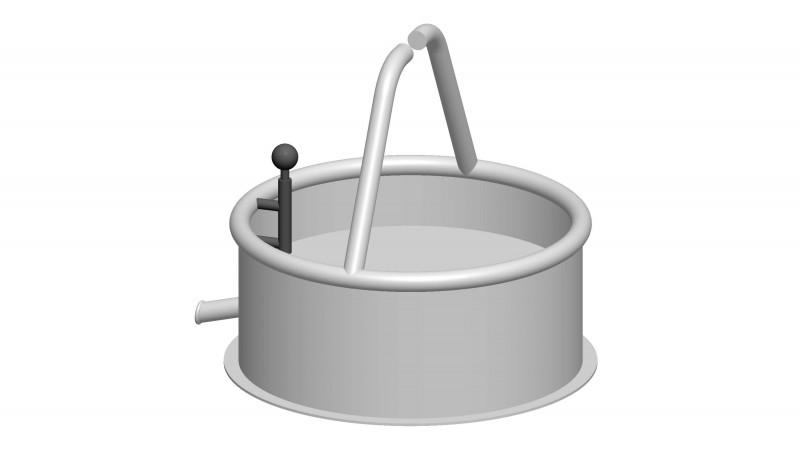 Urządzenia zabawowe Zbiornik wodny z zaworem spustowym