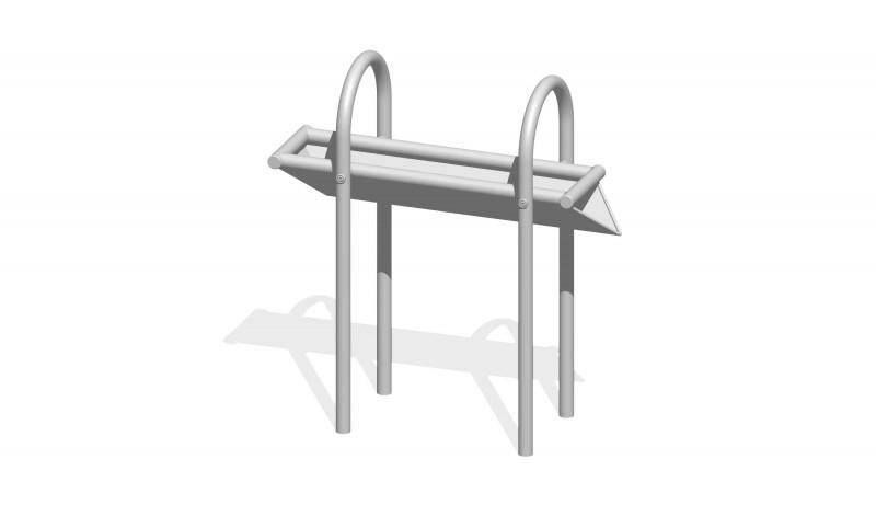 Urządzenia zabawowe Rynna z odpływem bocznym 0,8 m