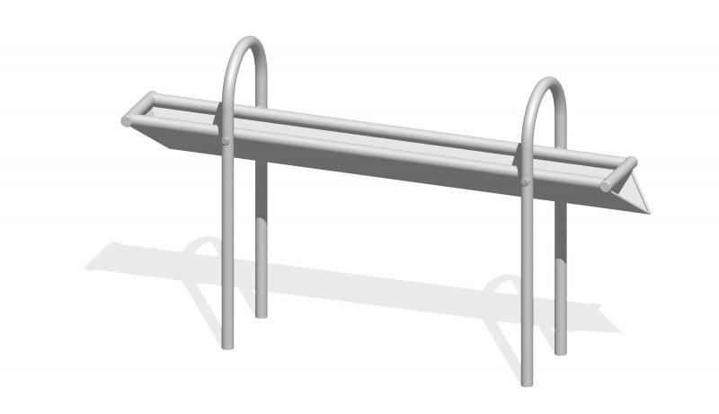 Urządzenia zabawowe Rynna z odpływem bocznym 1,6 m