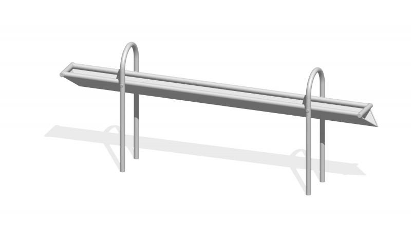 Urządzenia zabawowe Rynna z odpływem bocznym  2,4 m