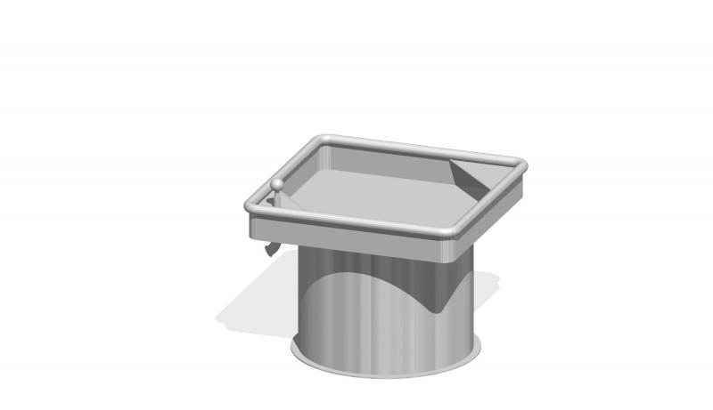 Urządzenia zabawowe Kwadratowy stół wodny 0,50 m