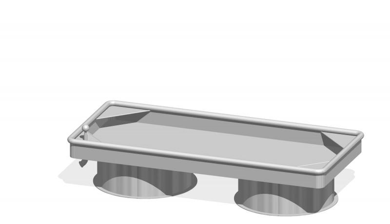 Urządzenia zabawowe Prostokątny stół wodny 0,25 m