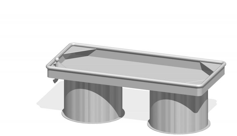 Urządzenia zabawowe Prostokątny stół wodny 0,50 m
