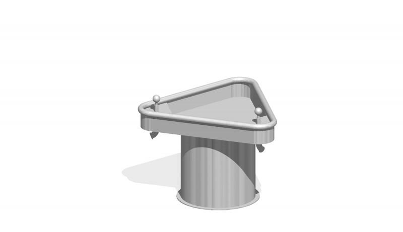 Urządzenia zabawowe Trójkątny stół wodny 0,5 m