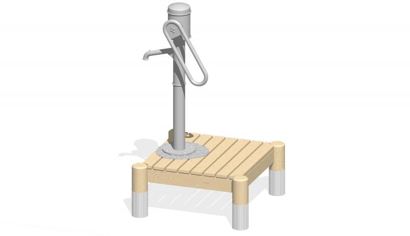Urządzenia zabawowe Podest z pompą ręczną