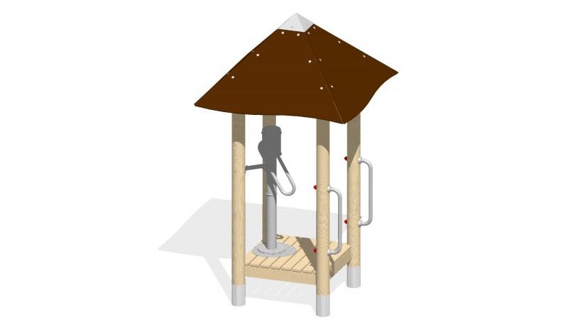 Urządzenia zabawowe Zadaszony podest z pompą ręczną