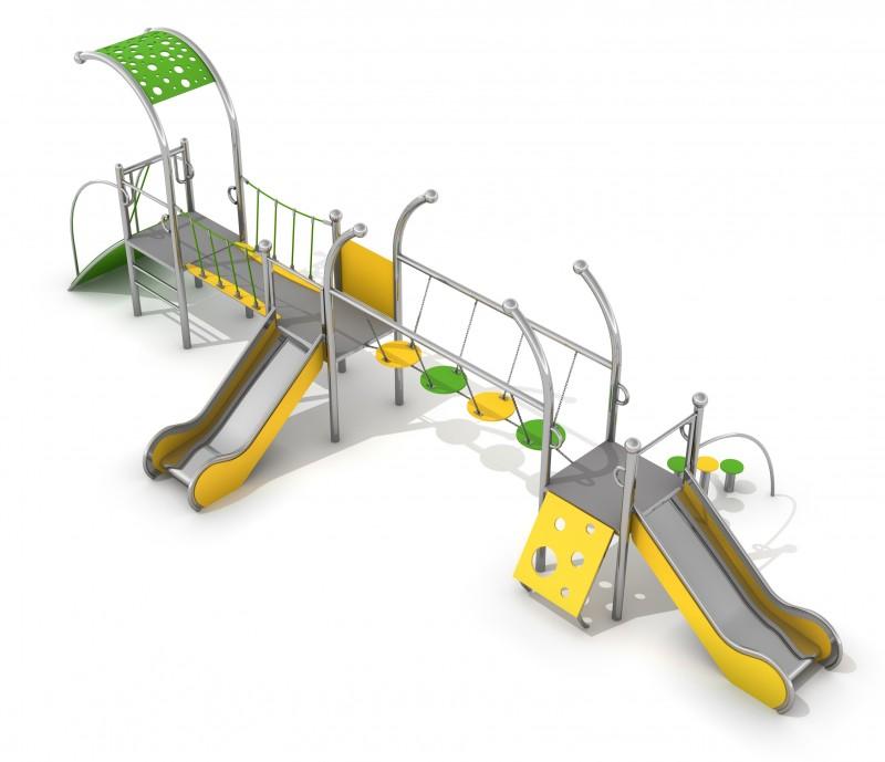 Zjeżdżalnia dla dzieci Zestaw Dometo 3-2