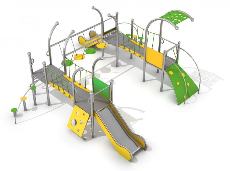 Zjeżdżalnia dla dzieci Zestaw Dometo 4-1