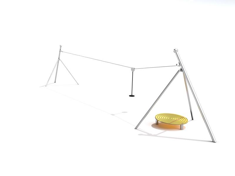 Projekt placu zabaw Zjazd linowy Transiro - 20 m