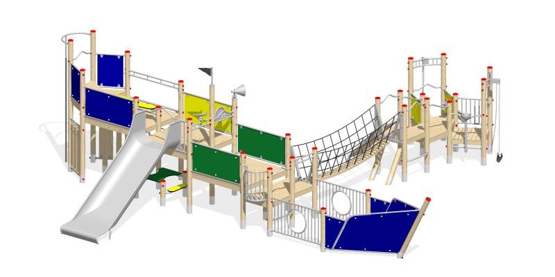 Urządzenia zabawowe Na Plac Zabaw Producent Piaskownica Statek 4