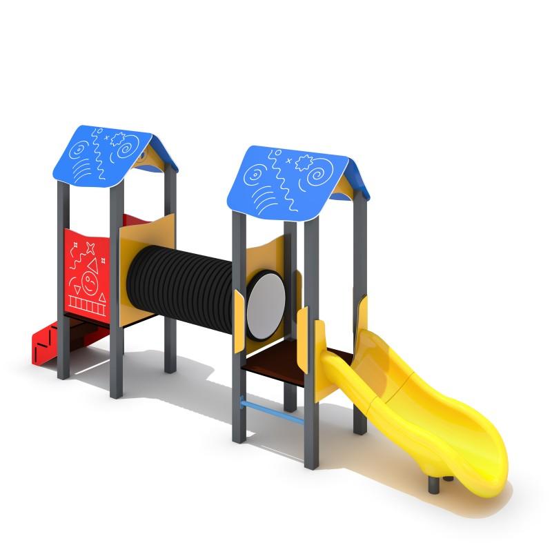 Urządzenia zabawowe Zestaw Piro 2-1 - zjeżdżalnia plastikowa