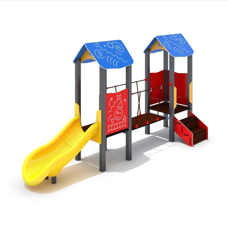 Urządzenia na plac zabaw Zestaw Piro 2-2 - zjeżdżalnia plastikowa