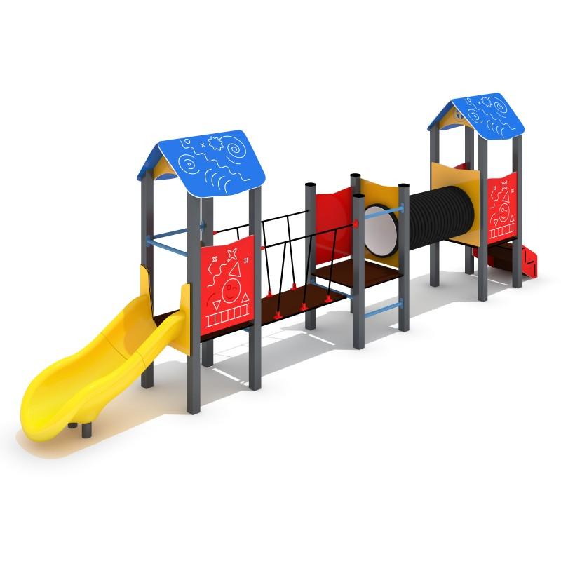 Urządzenia na plac zabaw Zestaw Piro 3-1 - zjeżdżalnia plastikowa