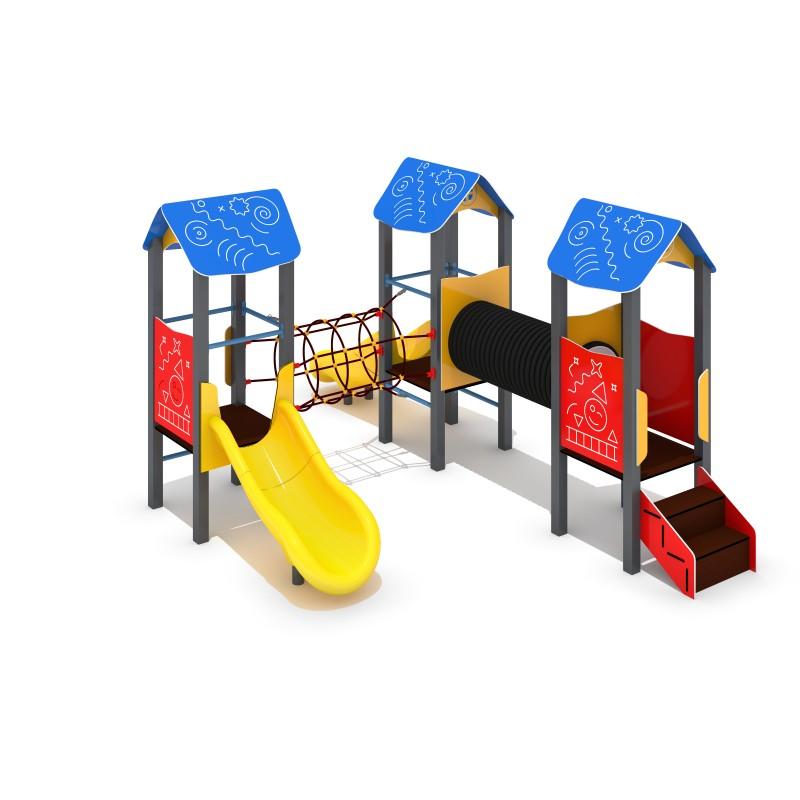 Urządzenia na plac zabaw Zestaw Piro 3-2 - zjeżdżalnia plastikowa