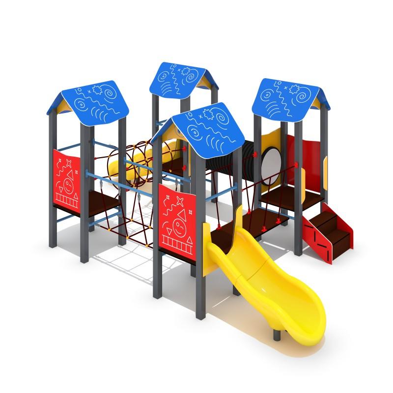 Urządzenia na plac zabaw Zestaw Piro 4-1 - zjeżdżalnia plastikowa