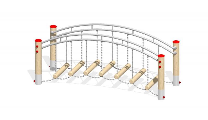 Urządzenia zabawowe Na Plac Zabaw Producent Ruchomy mostek 2