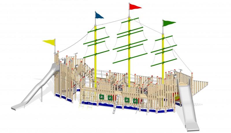 Urządzenia zabawowe Na Plac Zabaw Producent Statek 1