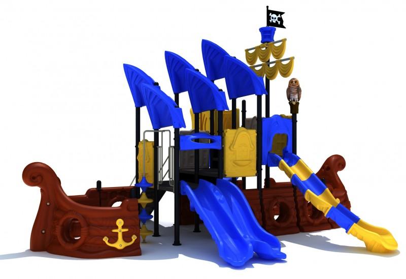 Domek ze zjeżdżalnią Zestaw Statek Piracki  2