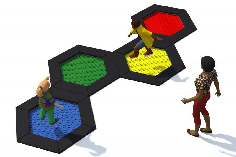 Urządzenia zabawowe Trampolina Hexo 4A