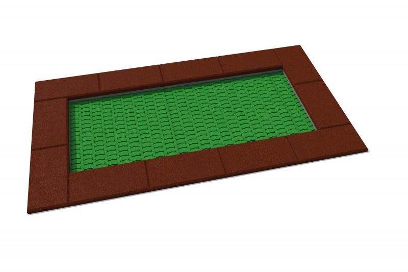 Urządzenia zabawowe Trampolina prostokątna Orta 125 x 225