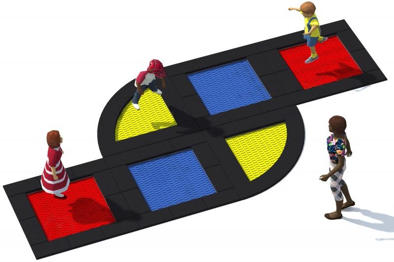 Urządzenia zabawowe Trampolina Tuto 18
