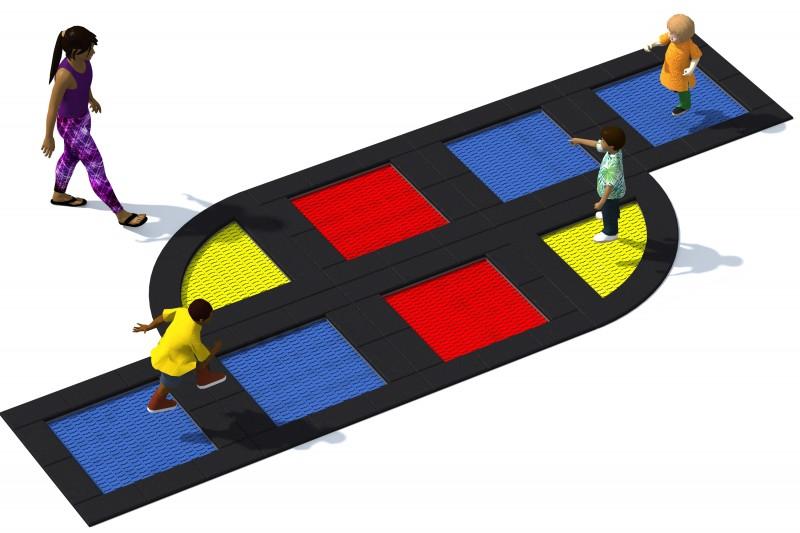 Urządzenia zabawowe Trampolina Tuto 19