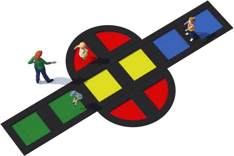 Urządzenia zabawowe Trampolina Tuto 21