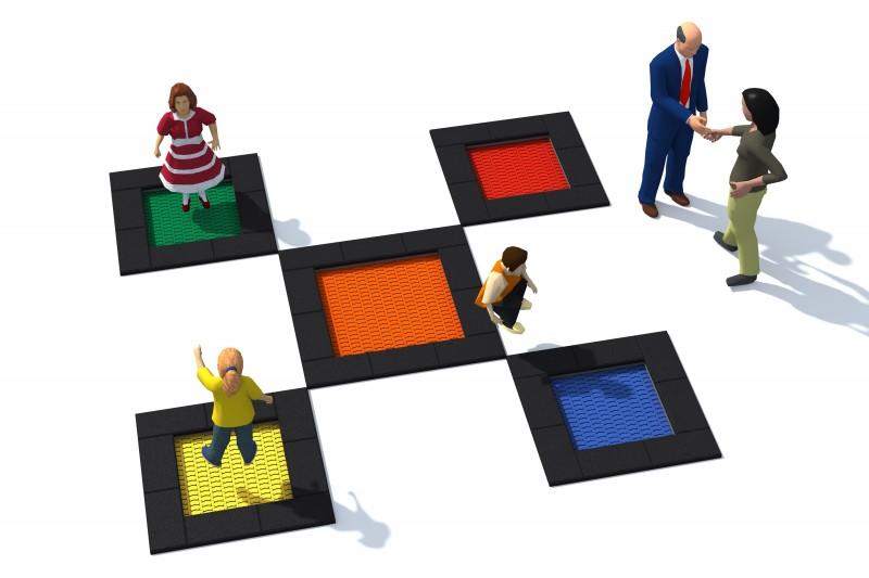 Urządzenia zabawowe Trampolina Tuto 7