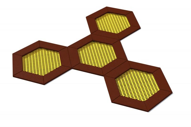 Urządzenia zabawowe Trampolina Hexo 4B