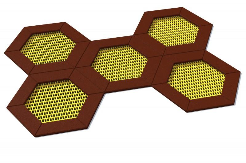 Urządzenia zabawowe Trampolina Hexo 5A