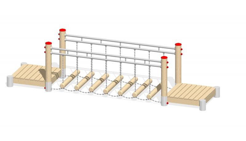 Urządzenia zabawowe Na Plac Zabaw Producent Ruchomy mostek 1