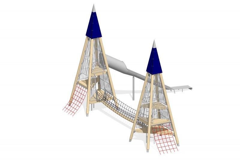 Urządzenia zabawowe Na Plac Zabaw Producent Zestaw Wieża 5