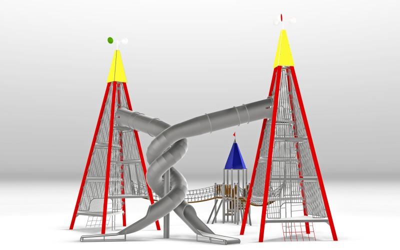 Urządzenia zabawowe Na Plac Zabaw Producent Zestaw Wieża 12