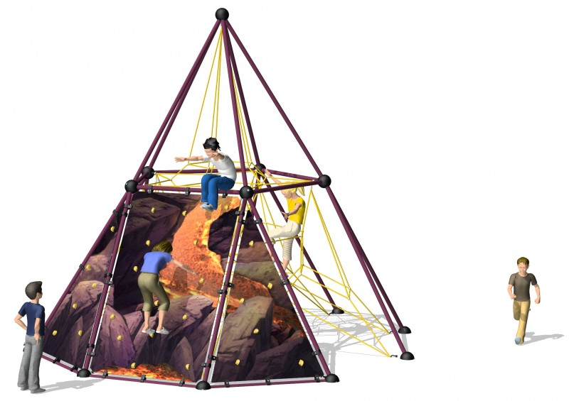Zabawki ogrodowe dla dzieci Wyposażenie placu zabaw Linarium Skyclimber VULCANO