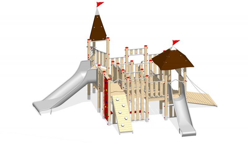 Urządzenia zabawowe Na Plac Zabaw Producent Zamek 2