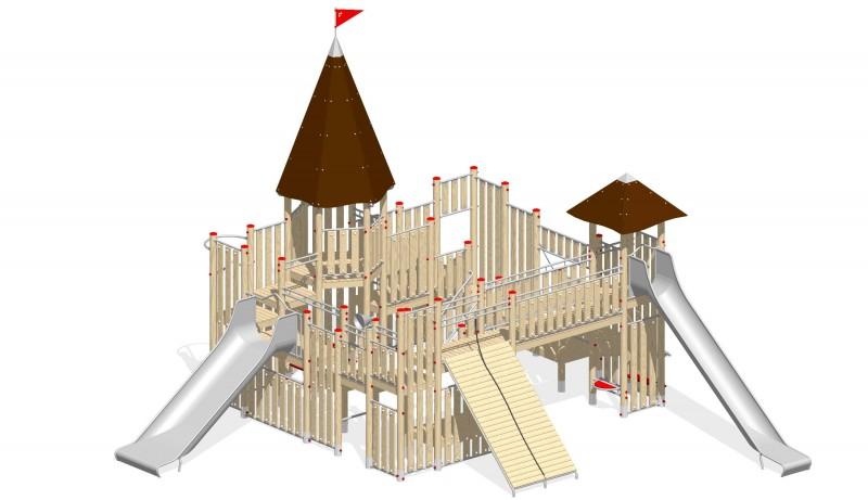 Urządzenia zabawowe Na Plac Zabaw Producent Zamek 4