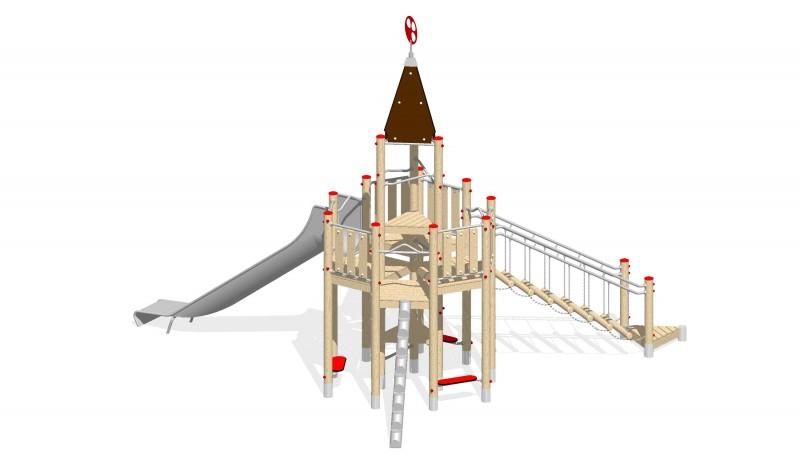 Urządzenia zabawowe Na Plac Zabaw Producent Zamek 5