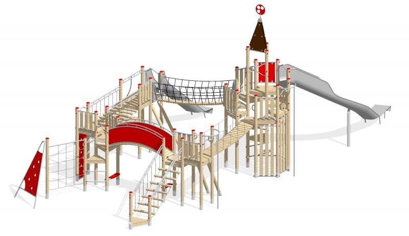 Urządzenia zabawowe Na Plac Zabaw Producent Zamek 6