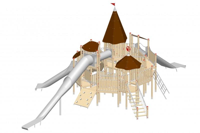 Urządzenia zabawowe Na Plac Zabaw Producent Zamek 7