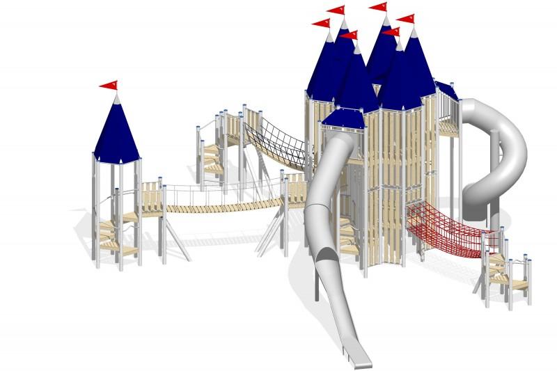 Urządzenia zabawowe Na Plac Zabaw Producent Zamek 8